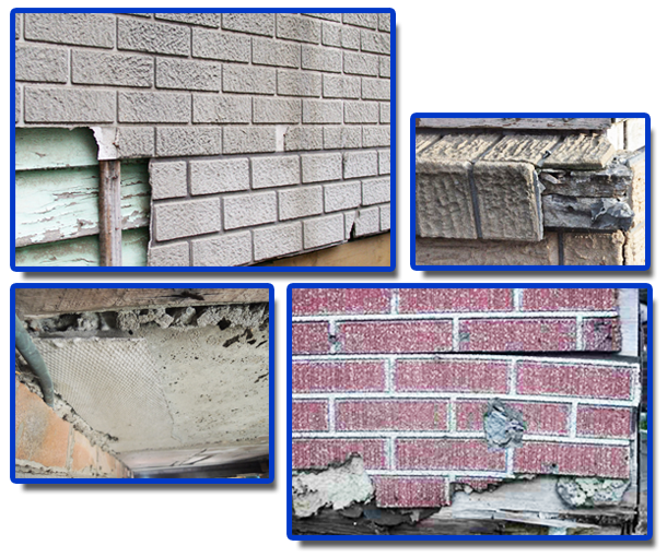Asbestos in Wall Imitation Brick Cladding