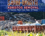 $40M-Worth Asbestos Removal at Trenton Plant Can Take 10 Years