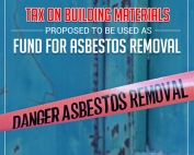 Tax on Building Materials Proposed to be Used as Fund for Asbestos Removal